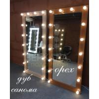 Гримерное зеркало с подсветкой дуб сонома 175х80