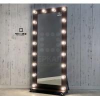 Гримерное зеркало на подставке с колесиками 180х80 венге